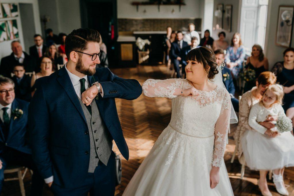 Hallgarth Manor Covid Wedding Photographer 015