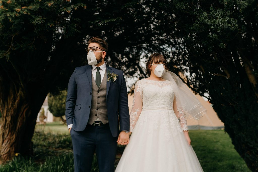 Hallgarth Manor Covid Wedding Photographer 024